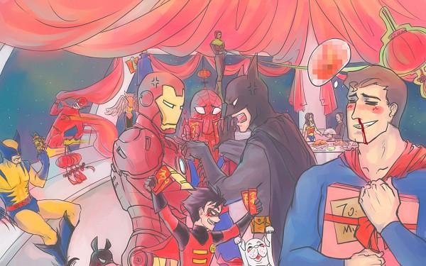 Tags: Anime, Wolverine, Superman, Spider-Man, Iron Man, Batman, FlashMan, Superman (Character), Wonder Woman, Spider-Man (Character), Robin (DC Comics), Iron Man (Character), Kal-el