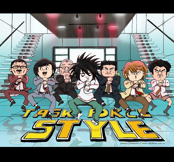 Tags: Anime, Veleven, DEATH NOTE, L Lawliet, Aizawa Shuichi, Yagami Raito, Matsuda Touta, Yagami Soichiro, Watari, Mogi Kandzo, K-pop (Parody), K-pop, Fanart From DeviantART