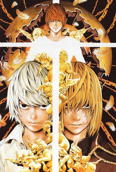 Tags: Anime, Obata Takeshi, DEATH NOTE, Art Nouveau, Mobile Wallpaper, Official Art