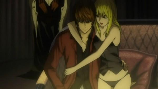 Tags: Anime, MADHOUSE, DEATH NOTE, Amane Misa, Yagami Raito, Screenshot
