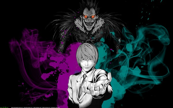 Tags: Anime, DEATH NOTE, Ryuk, Yagami Raito, 2560x1600 Wallpaper, Boa, Shinigami, Splash, HD Wallpaper, Fanmade Wallpaper, Wallpaper, Edited