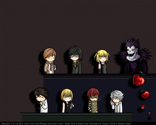 Tags: Anime, Silentreaper (mangaka), DEATH NOTE, Matt, Yagami Raito, L Lawliet, Mikami Teru, Rem (DEATH NOTE), Mello, Amane Misa, Near, Ryuk, Shinigami