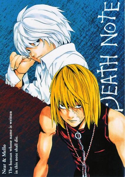 Tags: Anime, DEATH NOTE, Mello, Near, Mobile Wallpaper, Artist Request