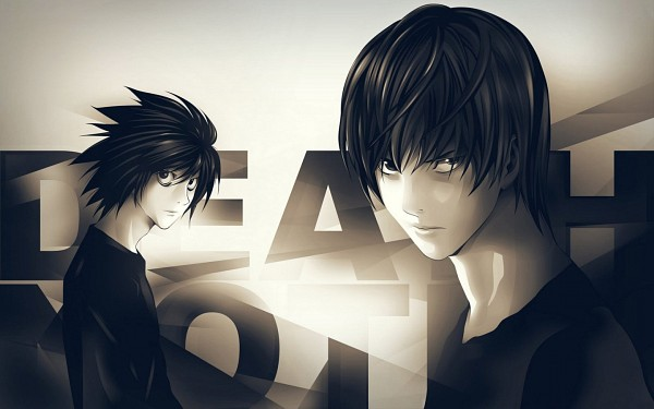 Tags: Anime, DEATH NOTE, Yagami Raito, L Lawliet, 1440x900 Wallpaper, Wallpaper, Fanmade Wallpaper, Edited