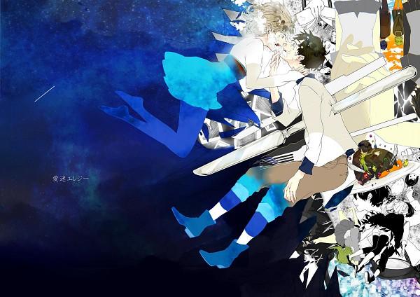 Tags: Anime, Manda (Tyomesuke), VOCALOID, GUMI, Pixiv, Song-Over, Nisoku Hokou, DECO*27, Mosaic Role, Fanart, Love-lost Elegy, Yowamushi Montblanc