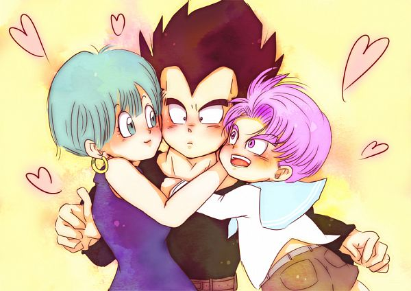 Tags: Anime, Regosiki, DRAGON BALL, DRAGON BALL Z, Bulma Briefs, Trunks Briefs, Vegeta, Fanart, Pixiv, Vegebulma
