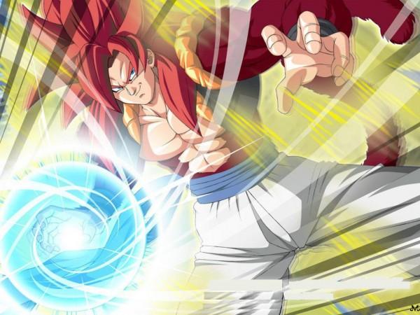 Tags: Anime, DRAGON BALL, DRAGON BALL GT, Son Goku (DRAGON BALL), Vegeta, Gogeta, Character Fusion, Wallpaper