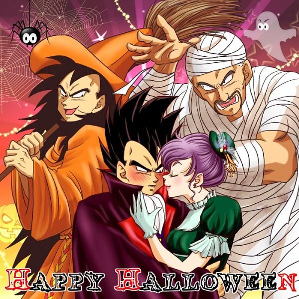 Tags: Anime, Vin (Ultra-b), DRAGON BALL, DRAGON BALL Z, Raditz, Vegeta, Bulma Briefs, Nappa, Vampire Costume, Mummy, Spider, Fanart, Fanart From Pixiv