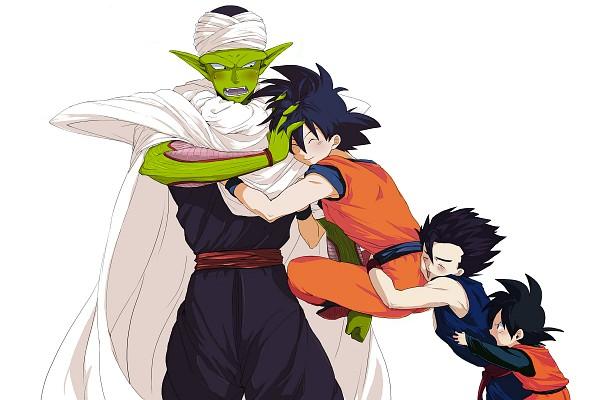 Tags: Anime, Jet-x, DRAGON BALL, DRAGON BALL Z, Son Goten, Piccolo, Son Goku (DRAGON BALL), Son Gohan, Group Hug, Fanart, Fanart From Pixiv, PNG Conversion, Pixiv