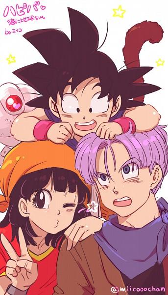 Tags: Anime, Pixiv Id 1132359, DRAGON BALL, DRAGON BALL GT, Trunks Briefs, Son Goku (DRAGON BALL), Pan (DRAGON BALL), Granddaughter, Fanart, Mobile Wallpaper, Pixiv, Fanart From Pixiv