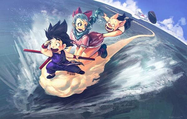 Tags: Anime, Benlo, DRAGON BALL, Oolong, Bulma Briefs, Son Goku (DRAGON BALL)
