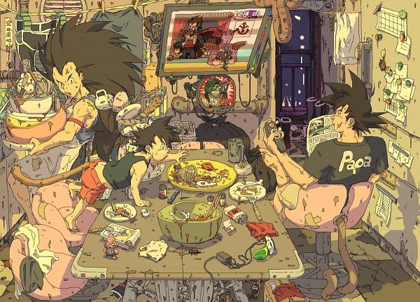 Tags: Anime, DRAGON BALL, DRAGON BALL Z, King Vegeta, Raditz, Bardock (DRAGON BALL), Son Goku (DRAGON BALL)