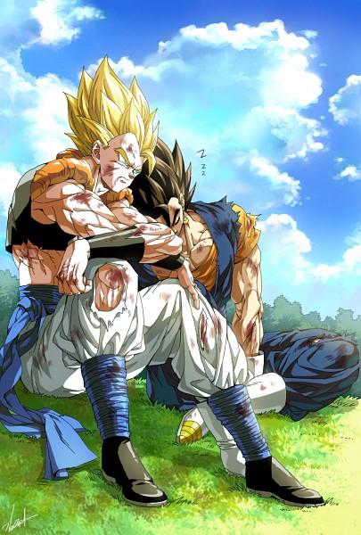 Tags: Anime, Pixiv Id 9040790, DRAGON BALL, DRAGON BALL Z, Son Goku (DRAGON BALL), Vegeta, Gogeta, Vegito, Character Fusion, Potara, Zzz, Pixiv, Fanart From Pixiv