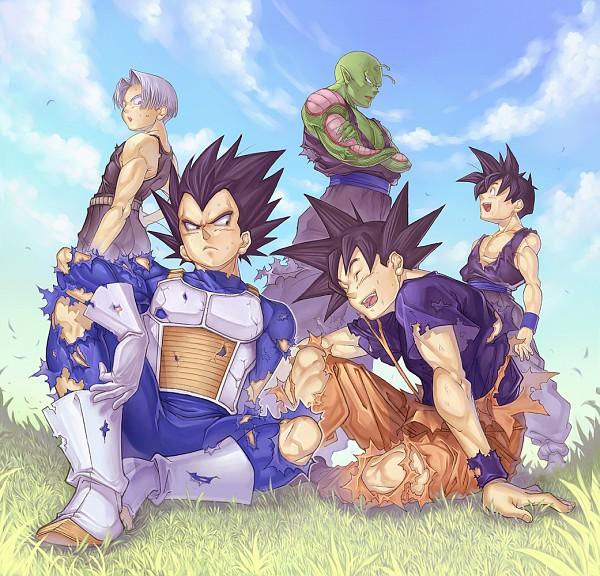 Tags: Anime, Katsutake, DRAGON BALL, DRAGON BALL Z, Vegeta, Piccolo, Son Gohan, Trunks Briefs, Son Goku (DRAGON BALL), Son Goten, Alien, Alien Antenna, Fanart