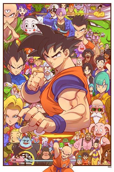 Tags: Anime, Edwinhuang, DRAGON BALL, DRAGON BALL Z, Ten Shin Han, Ub, Krillin, Chaozu, Paikuhan, Videl, Son Gohan, Dende, Vegeta