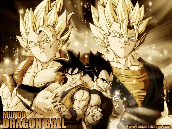 Tags: Anime, DRAGON BALL, DRAGON BALL Z, Vegito, Son Goku (DRAGON BALL), Vegeta, Gogeta, Potara, Character Fusion, Wallpaper
