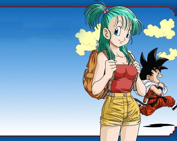Tags: Anime, DRAGON BALL, Bulma Briefs, Son Goku (DRAGON BALL), Wallpaper
