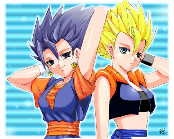 Tags: Anime, DRAGON BALL, DRAGON BALL Z, Vegito, Son Goku (DRAGON BALL), Vegeta, Gogeta, Potara, Character Fusion
