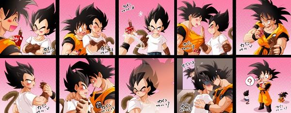 Tags: Anime, DRAGON BALL, DRAGON BALL Z, Son Goku (DRAGON BALL), Vegeta, Son Goten, Facebook Cover, Fanart, Pixiv