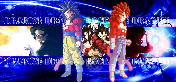 Tags: Anime, DRAGON BALL, DRAGON BALL GT, Vegeta, Son Goku (DRAGON BALL), Wallpaper, Super Saiyan 4, Super Saiyan