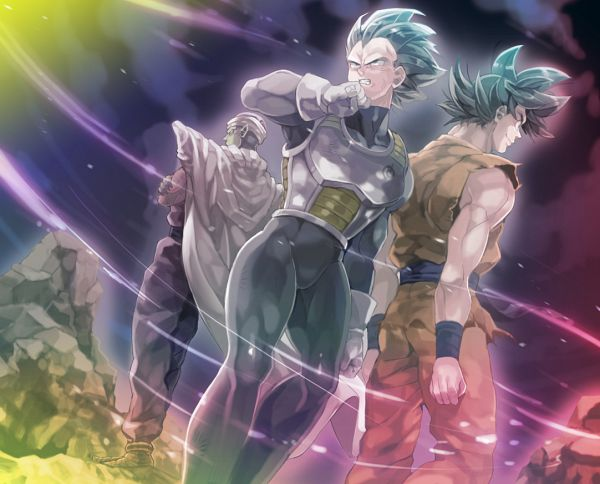 Tags: Anime, Pixiv Id 10491558, DRAGON BALL SUPER, Vegeta, Piccolo, Son Goku (DRAGON BALL), Fanart From Pixiv, Fanart, Pixiv