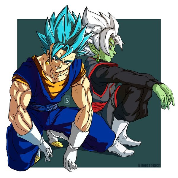 Tags: Anime, Blood-splach, DRAGON BALL, DRAGON BALL SUPER, DRAGON BALL Z, Vegito, Zamasu, Black Goku, Son Goku (DRAGON BALL), Vegeta, Potara, Character Fusion, deviantART