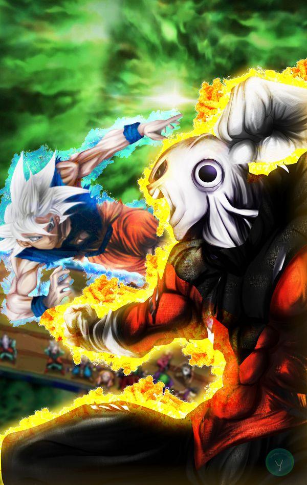 Tags: Anime, DRAGON BALL, DRAGON BALL SUPER, Jiren, Son Goku (DRAGON BALL), Super Saiyan E, Crowd, Punching, Yametastudio, deviantART, Super Saiyan 5, Super Saiyan