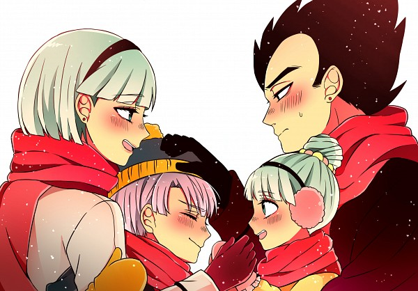 Tags: Anime, Pixiv Id 8088802, DRAGON BALL, DRAGON BALL Z, Vegeta, Bra (DRAGON BALL), Bulma Briefs, Trunks Briefs, Vegebulma