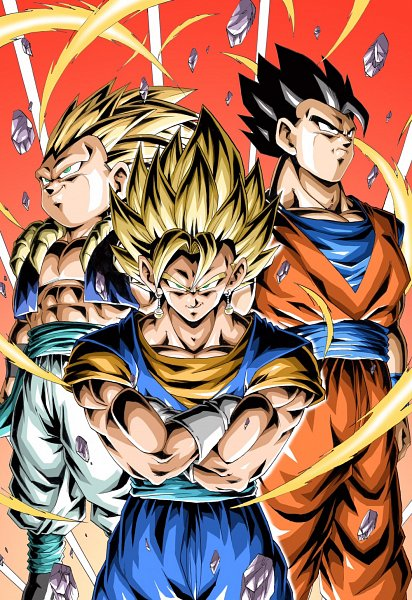 Tags: Anime, Pixiv Id 46703904, DRAGON BALL, DRAGON BALL Z, Vegito, Gotenks, Son Goku (DRAGON BALL), Son Gohan, Vegeta, Trunks Briefs, Son Goten, Pecs, Character Fusion