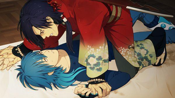 Tags: Anime, Honya Lala, Nitro+CHiRAL, DRAMAtical Murder, Seragaki Aoba, Koujaku, HD Wallpaper, Facebook Cover, Official Art, Wallpaper, CG Art