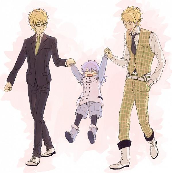 Tags: Anime, Pixiv Id 4330218, Nitro+CHiRAL, DRAMAtical Murder, Seragaki Aoba, Trip (DMMd), Virus (DMMd), Walking Together, Pixiv, Fanart, Fanart From Pixiv
