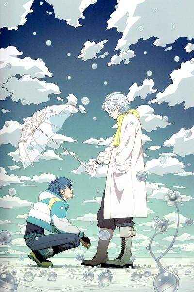 Tags: Anime, Honya Lala, Nitro+CHiRAL, DRAMAtical Murder, Clear (DMMd), Seragaki Aoba, Mobile Wallpaper, Official Art, Scan
