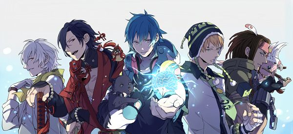 Tags: Anime, Tigira, Nitro+CHiRAL, DRAMAtical Murder, Clear (DMMd), Mink (DMMd), Beni (DMMd), Noiz (DMMd), Tori (DMMd), Seragaki Aoba, Ren (DMMd), Koujaku, Usagimodoki