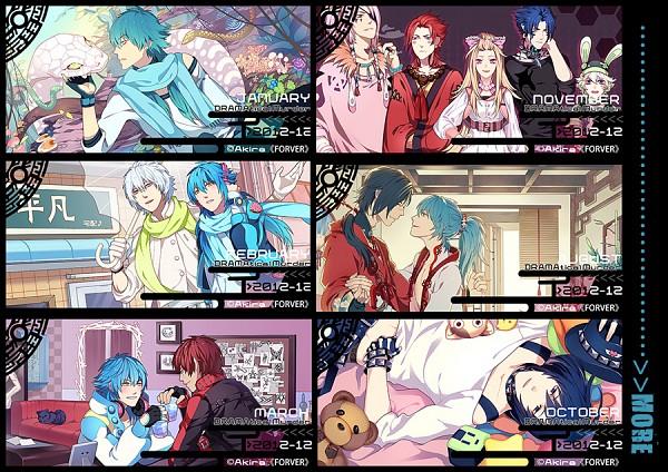Tags: Anime, Akira (Pixiv701442), DRAMAtical Murder, Ren (DMMd), Clara (DMMd), Ren (Human), Mizuki (DMMd), Clear (DMMd), Beni (DMMd), Seragaki Aoba, Usagimodoki, Tori (DMMd), Koujaku