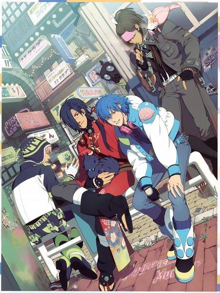 Tags: Anime, Honya Lala, Nitro+CHiRAL, DRAMAtical Murder, Koujaku, Clear (DMMd), Mink (DMMd), Noiz (DMMd), Seragaki Aoba, Ren (DMMd), Scan, Official Art