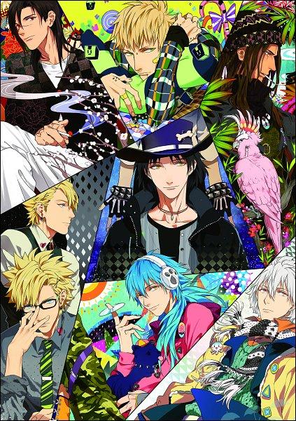 Tags: Anime, Pixiv Id 909965, Nitro+CHiRAL, DRAMAtical Murder, Noiz (DMMd), Ren (Human), Ren (DMMd), Seragaki Aoba, Virus (DMMd), Beni (DMMd), Clear (DMMd), Koujaku, Tori (DMMd)