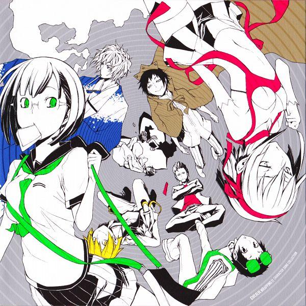 Tags: Anime, Suzuhito Yasuda, DURARARA!!, Sturluson Celty, Sonohara Anri, Hibiya, Ryuugamine Mikado, Kida Masaomi, Tsugaru, Kadota Kyouhei, Orihara Izaya, Heiwajima Shizuo, Hijiribe Ruri