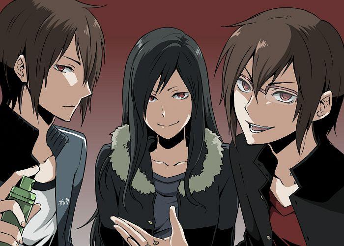 Tags: Anime, Pakkane, DURARARA!!, Kanra, Orihara Kururi, Orihara Mairu, Orihara Izaya, Pixiv, Fanart, Fanart From Pixiv