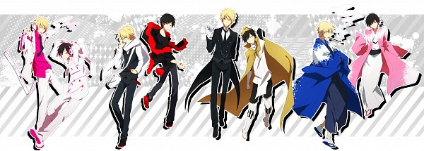 Tags: Anime, Pixiv Id 369216, DURARARA!!, Hibiya, Delic, Heiwajima Shizuo, Tsugaru, Orihara Izaya, Psyche, Sebastian Michaelis (Cosplay), Psychedelic Dreams, Fanart, Subarashii Hibi