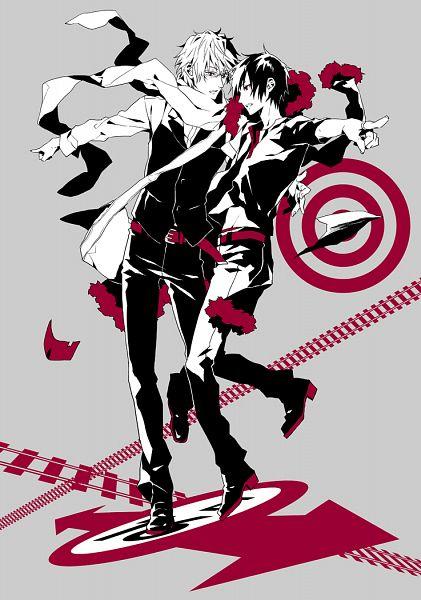 Tags: Anime, Fujino Akitsugu, DURARARA!!, Heiwajima Shizuo, Orihara Izaya, Tsukishima Shizuo, Fanart From Pixiv, PNG Conversion, Pixiv, Mobile Wallpaper, Fanart, Hachimenroppi Izaya, Shizaya