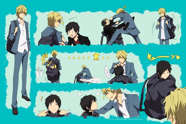 Tags: Anime, Pixiv Id 369216, DURARARA!!, Heiwajima Shizuo, Orihara Izaya, Pixiv, Fanart From Pixiv, Fanart, Raijin Days