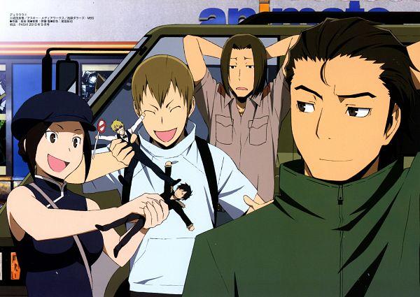 Tags: Anime, Brains Base (Studio), DURARARA!!, Togusa Saburou, Karisawa Erika, Kadota Kyouhei, Yumasaki Walker, Scan, Official Art