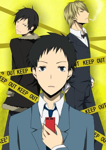 Tags: Anime, DURARARA!!, Ryuugamine Mikado, Heiwajima Shizuo, Orihara Izaya