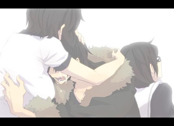 Tags: Anime, Hirasaka, DURARARA!!, Orihara Kururi, Orihara Mairu, Orihara Izaya, Comfort, Pixiv