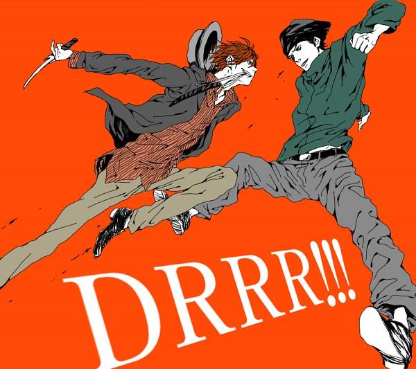 Tags: Anime, Pixiv Id 2641642, DURARARA!!, Rokujo Chikage, Kadota Kyouhei, VS, Fanart From Pixiv, Pixiv, PNG Conversion, Fanart
