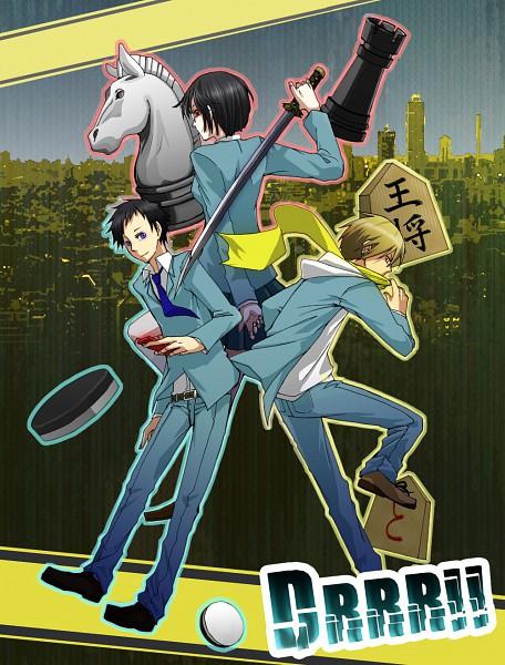 Tags: Anime, DURARARA!!, Ryuugamine Mikado, Sonohara Anri, Kida Masaomi