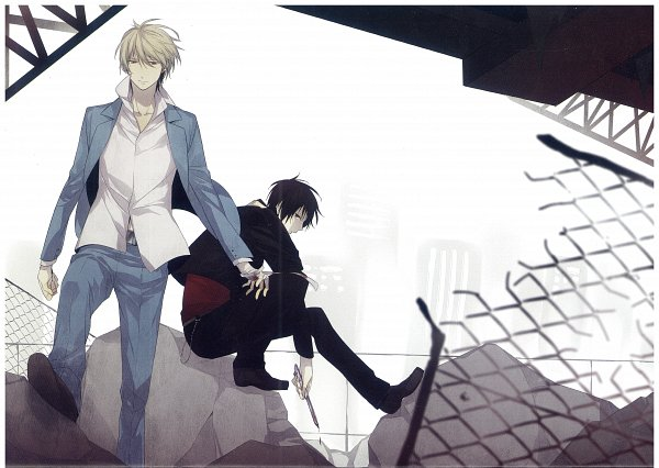 Tags: Anime, ryugo, DURARARA!!, Bumblebee - Hummel Color Illustrations, Heiwajima Shizuo, Orihara Izaya, Raijin Days, Self Scanned, Scan, Shizaya