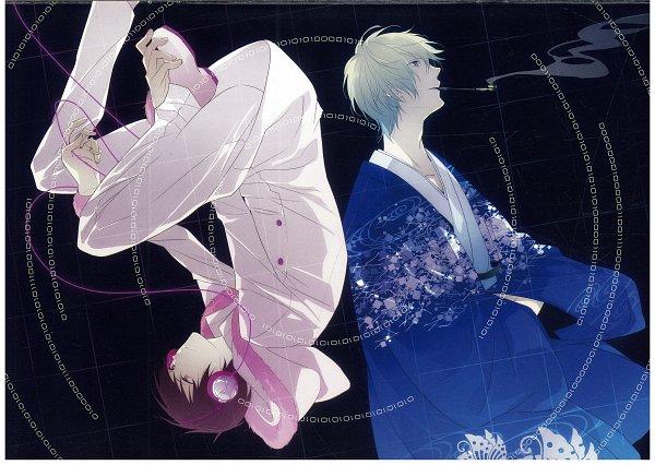 Tags: Anime, ryugo, DURARARA!!, Bumblebee - Hummel Color Illustrations, Tsugaru, Psyche, Heiwajima Shizuo, Orihara Izaya, Song-Over, Tsugaru Kaikyo Fuyu Geshiki, Self Scanned, Psychedelic Dreams, Scan