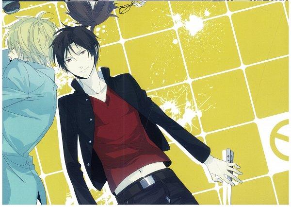 Tags: Anime, ryugo, DURARARA!!, Bumblebee - Hummel Color Illustrations, Orihara Izaya, Heiwajima Shizuo, Kishitani Shinra, Self Scanned, Scan, Raijin Days