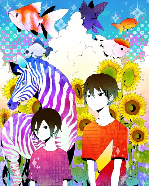 Tags: Anime, Yumecocco, DURARARA!!, Heiwajima Kasuka, Heiwajima Shizuo, Zebra, Pixiv